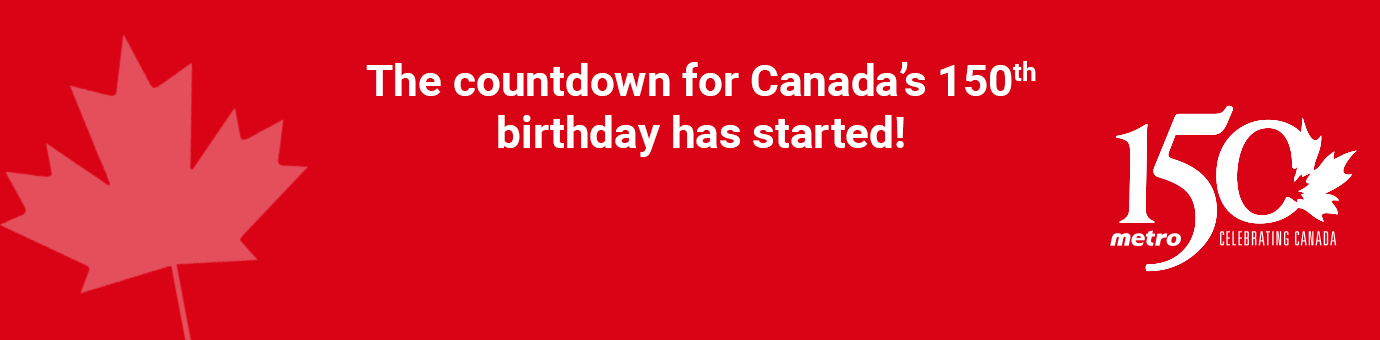 The countdown for Canada 150th bithday has just started