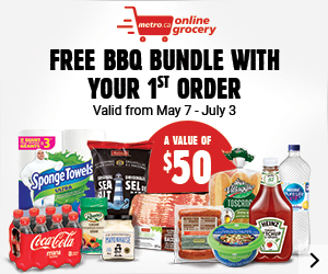 my online grocery - Free BBQ bundle with your 1st order - A value of $50 - Valid from May 7 - July 3 - Shop now