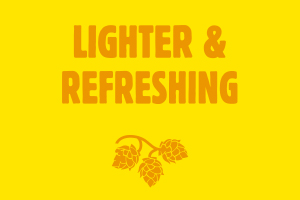 Lighter and Refreshing beer