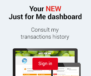 Your New just for Me dashboard