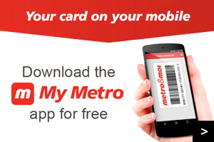Your card on your mobile - Download the My Metro app for free