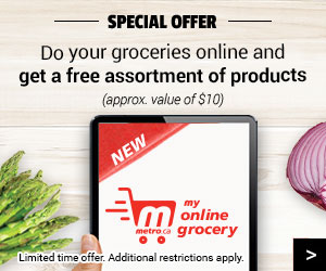 Spécial offer Do your groceries online and get a free assortment of products!