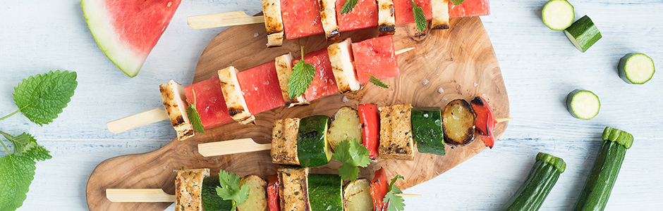 Summer skewers with an unexpected twist