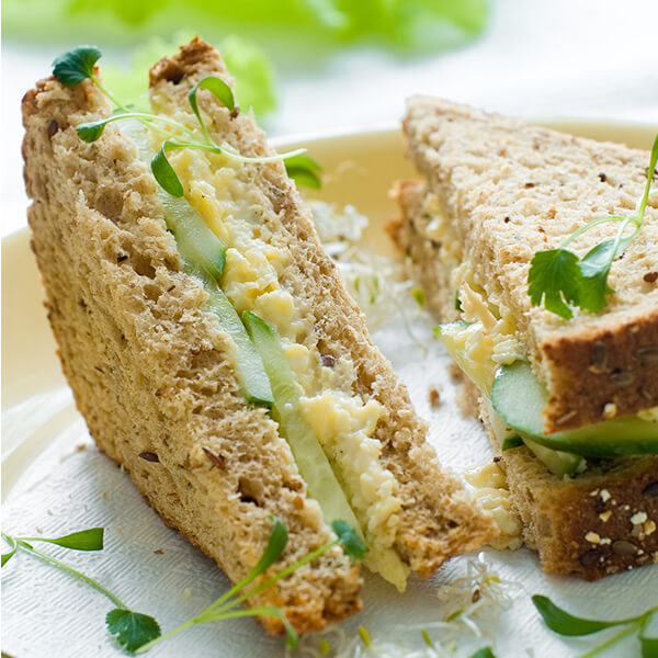 Egg Salad Sandwiches with Cucumbers