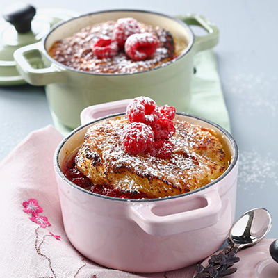 French Toast Casseroles With Raspberries