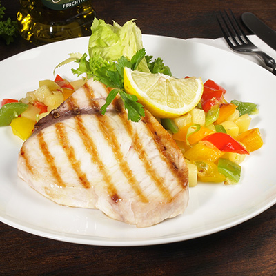 Grilled Swordfish with Melon Salsa