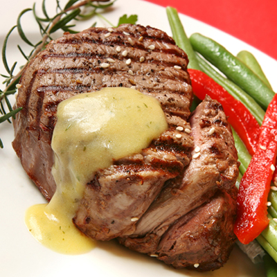Beef Rib Eye with Tarragon Sauce