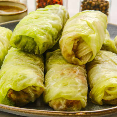 Barbecued Cabbage Rolls