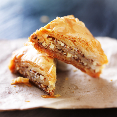 Pecan and Clementine Flaky Pastry