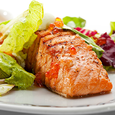 Grilled Salmon Fillets with Chervil Mandarin Sauce
