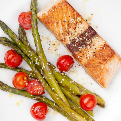 Grilled Pistachio Salmon Fillets