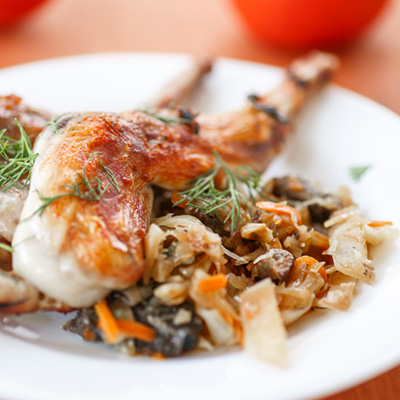 Roast Rabbit with thyme