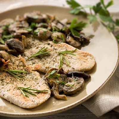 Turkey Breast with Mushroom Sauce