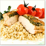 Grilled Chicken Breasts with Pine Nut Sauce