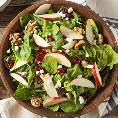 Spinach Salad with Maple Dressing