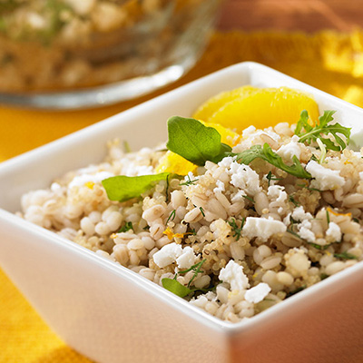 Mediterranean Barley and Quinoa Salad