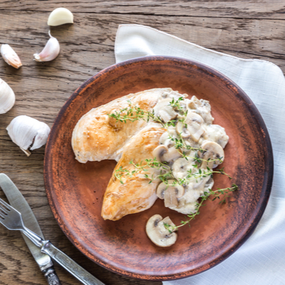 Turkey Breast Steaks with Mushroom Sauce