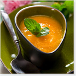 Creamy Carrot-tomato-ginger Soup