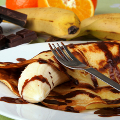 Grilled Bananas and Rum Caramel