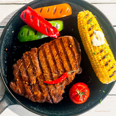 Chili-Marinated Rib Steaks