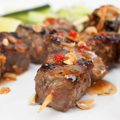 Beef Brochettes with Lime
