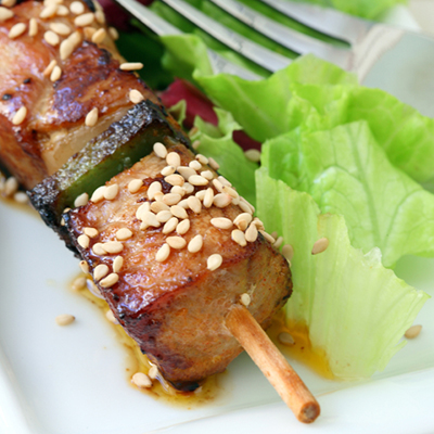 Beef Brochettes with Sesame