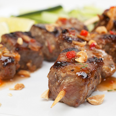 Spicy Beef Brochettes