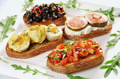 Bruschettas californiennes au fromage Bleu canadien