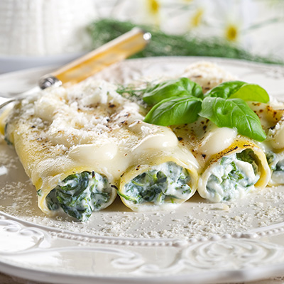 Spinach-sausage-ricotta Stuffed Cannelloni
