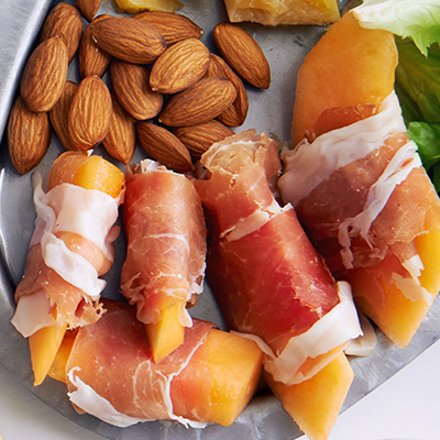 Cantaloupe  with Prosciutto