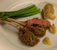 Herb crust rack of lamb