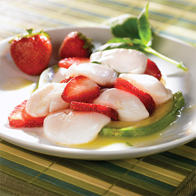 Scallop Ceviche with Strawberries