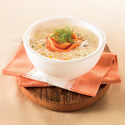 Fresh and Smoked Salmon Chowder