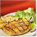 Barbecued Pork Chops with Pineapple and Lime
