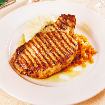 Pork Chops with Prunes and Apricots