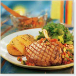 Pork chops with salsa
