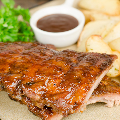 Barbecued Spare Ribs with Apple Jelly