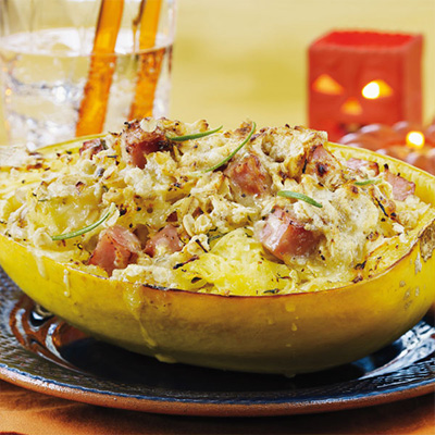 Spaghetti Squash and Raclette Crumble
