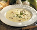 Creamy Brie and Fresh Mushroom Soup