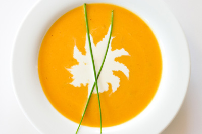 McIntosh Apple and Butternut Squash Cream Soup