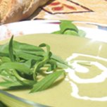 Cream of Boston lettuce soup
