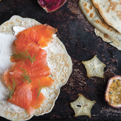 Fresh Herb and Smoked Salmon Crepes