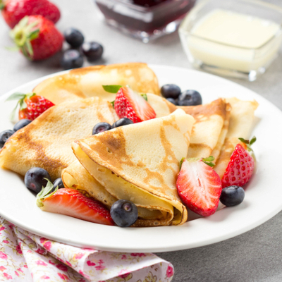 Fruity Flaxseed Crepes