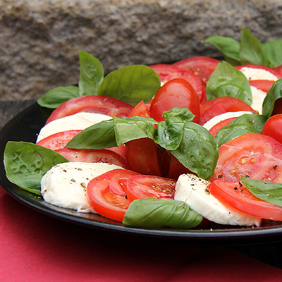 Watercress and tomatoes with Goat Cheese and Basil