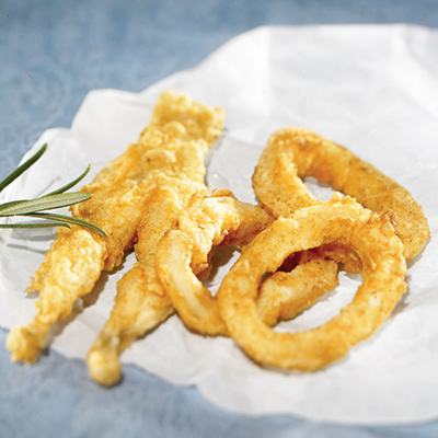 Crispy Fried Frogs Legs or Calamari