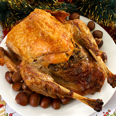 Chestnuts stuffing Turkey