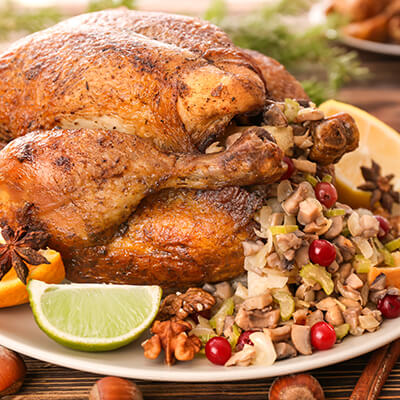Festive Turkey with Cranberry Stuffing