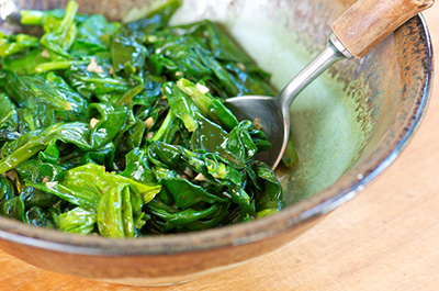 Sautéed Spinach and Bean Sprouts