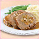 Pork Tenderloin Stuffed with Walnuts & Apricots, with Maple Glaze
