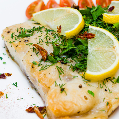 Poached Lemon and Coriander  Haddock Fillets